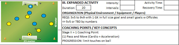 Technical Dribbling 1v1 Speed Acceleration expanded activity